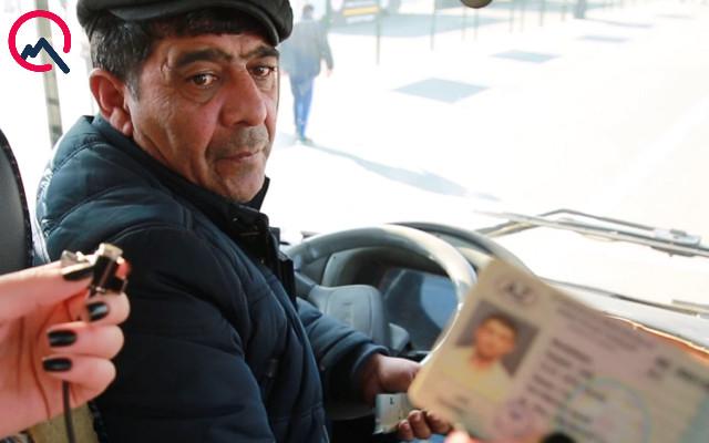 Bakıdakı avtobusda daha bir biabırçılıq - Oğlunun vəsiqəsi ilə sürür+Video