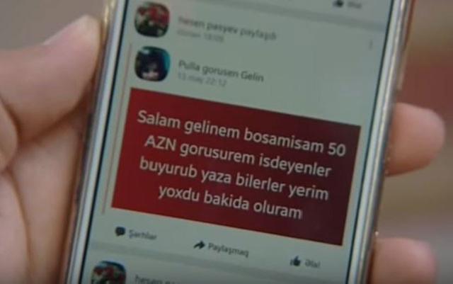 Azərbaycanda kişi arvadının şəklini paylaşdı - 50 manata...