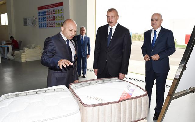 Prezident Masallı Sənaye Məhəlləsinin açılışında - Fotolar