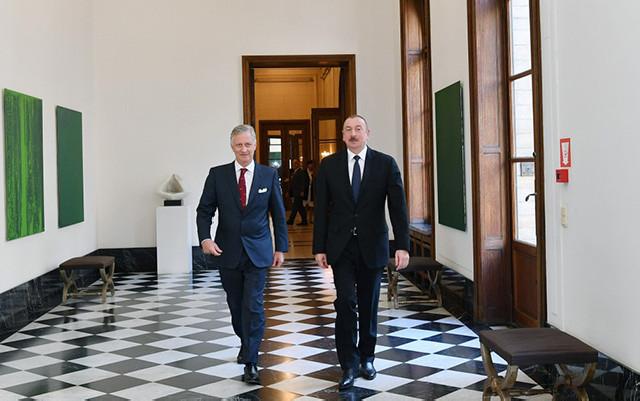 İlham Əliyev Brüsseldə Belçikalıların Kralı ilə görüşüb