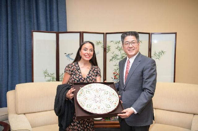 Leyla Əliyeva Çinin XİN başçısının müavini ilə görüşüb
