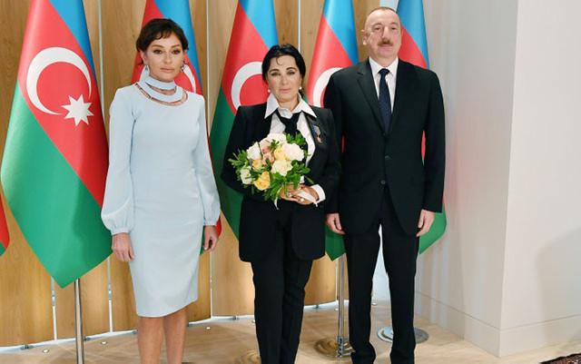 Prezidentlə xanımı İrina Viner-Usmanova ilə görüşdü - Fotolar