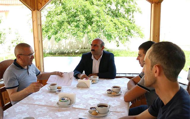 İcra başçısı Dilqəm Əsgərovun oğlu ilə görüşdü - Fotolar