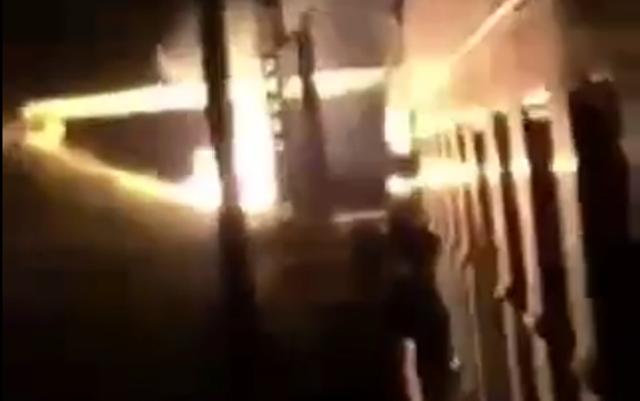 Bakı - Tbilisi qatarı qəzaya uğradı - Video
