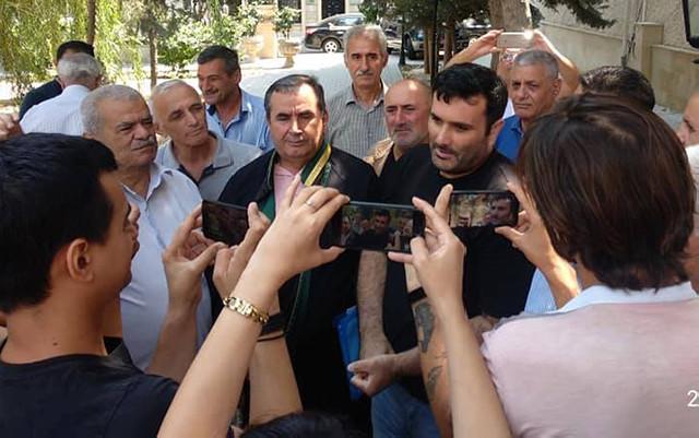 """""""Müsavat""""ın üzvü azadlığa çıxdı - Foto"""